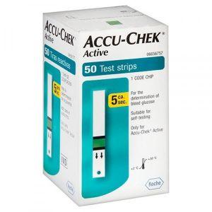 ACCU-CHEK ACTIVE COM 50 TIRAS