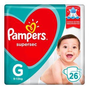 FRALDA PAMPERS SUPERSEC G 26UNI