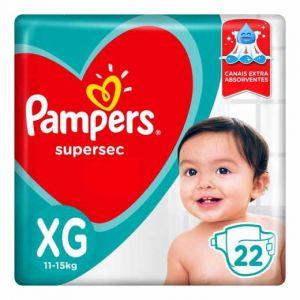 FRALDA PAMPERS SUPERSEC XG 22UNI