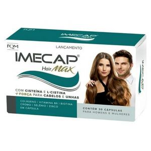 IMECAP HAIR MAX COM 30 CÁPSULAS