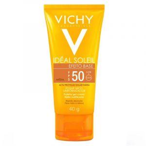 VICHY IDEAL SOLEIL EFEITO BASE COR MÉDIA FPS50 40ML