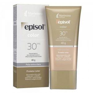 EPISOL COLOR FPS 30 PELE EXTRA CLARA 40G