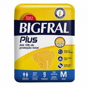 FRALDA BIGFRAL M COM 9 UNIDADES