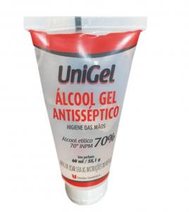 UNIGEL ALCOOL GEL 70% X 60 ML