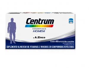 CENTRUM ESSENTIALS HOMEM COM 60 COMPRIMIDOS